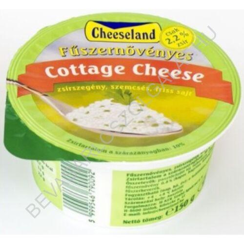 Cheeseland Cottage Cheese Sajt Zöldfűszeres 150 g