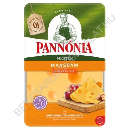 Pannónia Mester Maasdam szeletelt, zsíros, félkemény, erjedési lyukas sajt 125 g