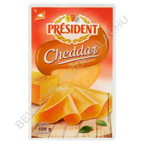 Président Szeletelt Sajt Cheddar 100 g