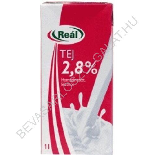 Reál Tartós Tej 2,8% UHT kupakos 1 l (#12) (Sole)
