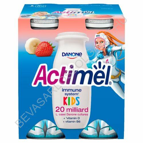 Danone Actimel Kids Joghurtital Eper - Banán 4x100 g=400 g (#6)