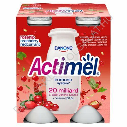 Danone Actimel Joghurtital Csipkebogyó & Vörös Áfonya & Ribizli 4x100 g=400 g (#6)