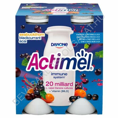 Danone Actimel Joghurtital Homoktövis & Feketeribizli  & Acai 4x100 g=400 g (#6)