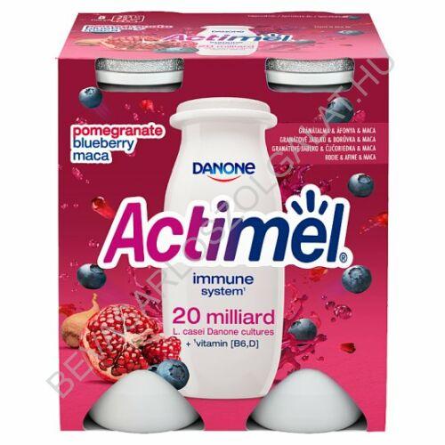 Danone Actimel Joghurtital Gránátalma & Áfonya & Maca 4x100 g=400 g (#6)