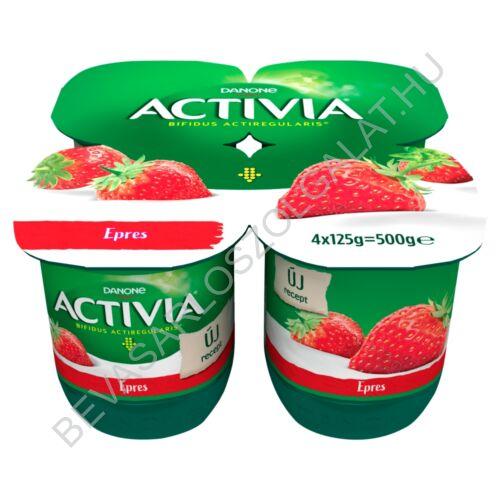 Danone Activia élőflórás, zsírszegény epres joghurt 4x125 g=500 g (#6)