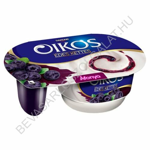 Danone Oikos Édes Kettes élőflórás édesített joghurt áfonyaszósszal 122 g