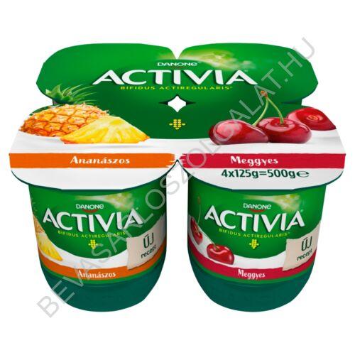 Danone Activia élőflórás, zsírszegény ananászos és meggyes joghurt 4x125 g=500 g (#6)