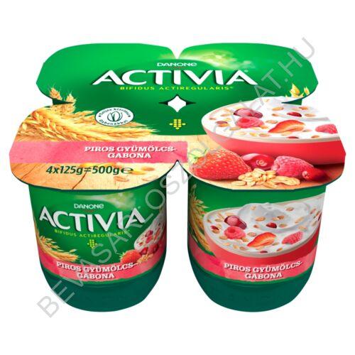 Danone Activia élőflórás, zsírszegény joghurt piros gyümölcsökkel és gabonával 4x125 g=500 g (#6)