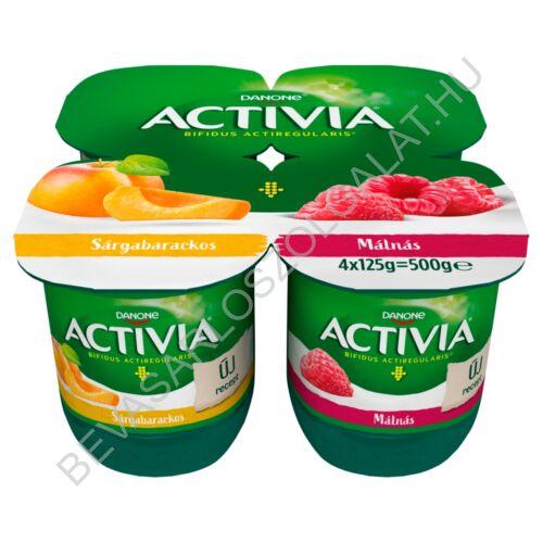 Danone Activia élőflórás, zsírszegény sárgabarackos és málnás joghurt 4x125 g=500 g (#6)