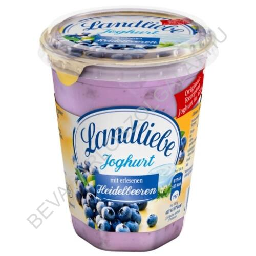 Landliebe Joghurt Áfonyás poharas 450 g