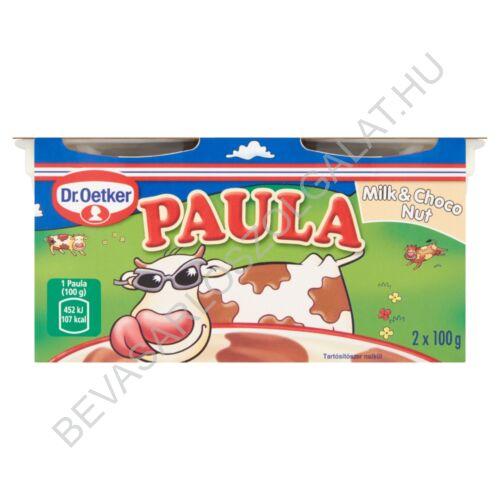Dr. Oetker Paula Milk & Choco Nut Tejpuding Csokoládéízű - Mogyoróízű Foltokkal 2x100 g=200 g (#6)