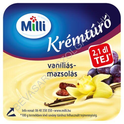 Milli Krémtúró Vaníliás - Mazsolás 90 g