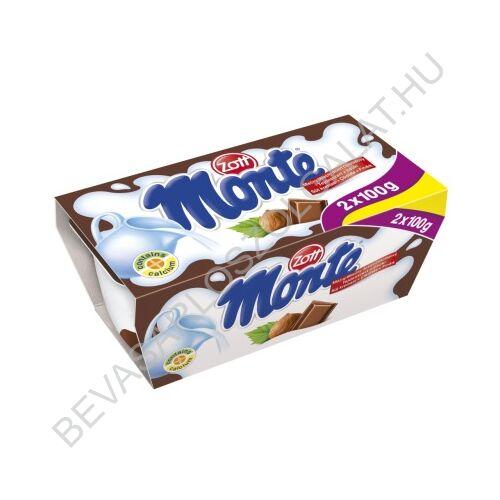 Zott Monte Csokoládés - Mogyorós Tejdesszert 2x100 g=200 g (#12)
