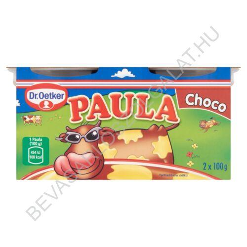Dr. Oetker Paula Choco Csokoládéízű Puding Vaníliaízű Foltokkal 2x100 g=200 g (#6)