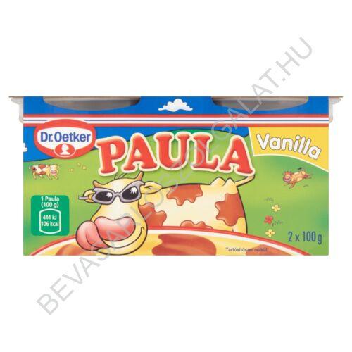 Dr. Oetker Paula Vanilla Vaníliaízű Puding Csokoládéízű Foltokkal 2x100 g=200 g (#6)