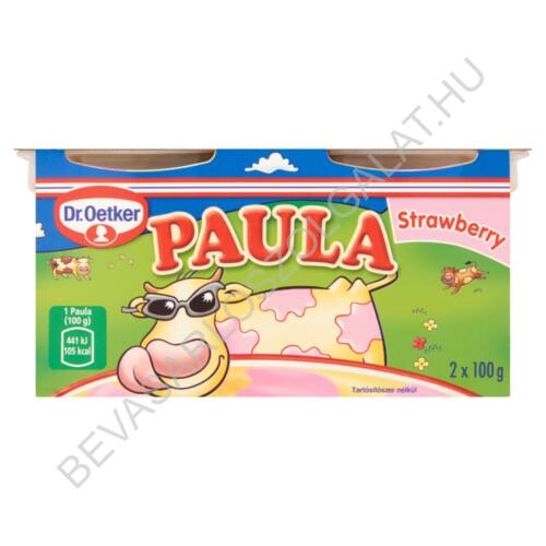 Dr. Oetker Paula Strawberry Vaníliaízű Puding Epres Foltokkal 2x100 g=200 g (#6)