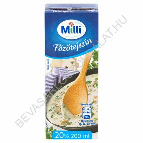 Milli Főzőtejszín 20% dobozos UHT 200 ml