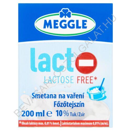 Meggle Laktózmentes Főzőtejszín 10% UHT dobozos 200 ml (#10)