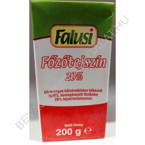 Falusi Főzőtejszín 20% UHT dobozos 200 g (#24)