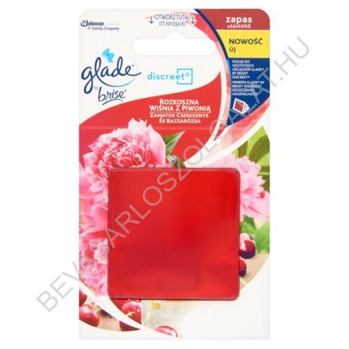 Brise Glade Discreet Illatosító Utántöltő Zamatos Cseresznye és Bazsarózsa 8 g