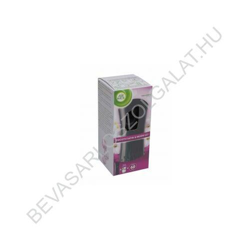 Air Wick Freshmatic Automata Légfrissítő Készülék + 2 db Elem + Utántöltő Bársonyos Szatén és Éji Liliom 250 ml