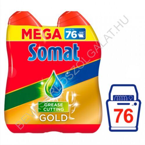 Somat Gold Grease Cutting gépi mosogatószer gél 76 mosogatás 2 x 684 ml