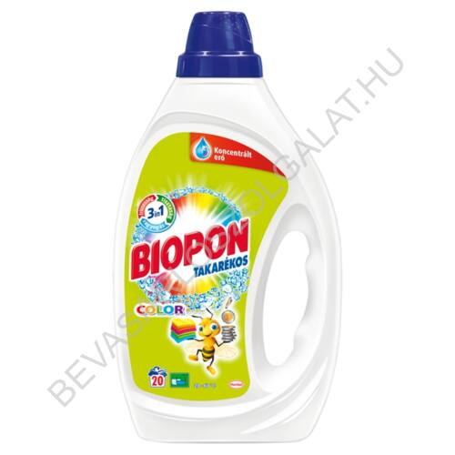 Biopon Takarékos Mosógél Color 20 mosás 1 l