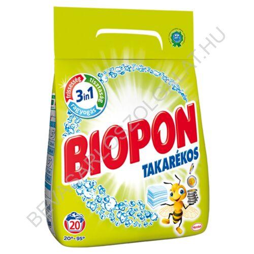 Biopon Takarékos Mosópor Fehér Ruhákhoz 20 mosás 1,4 kg (#8)