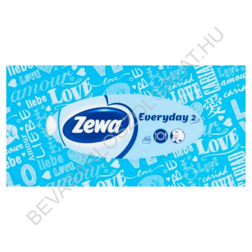Zewa Everyday Papírzsebkendő Illatmentes tégla dobozos 2 rétegű, 100 db (#21)
