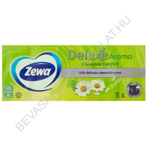 Zewa Deluxe Papírzsebkendő Camomile Comfort 3 rétegű, 10x10 db=100 db (#24)