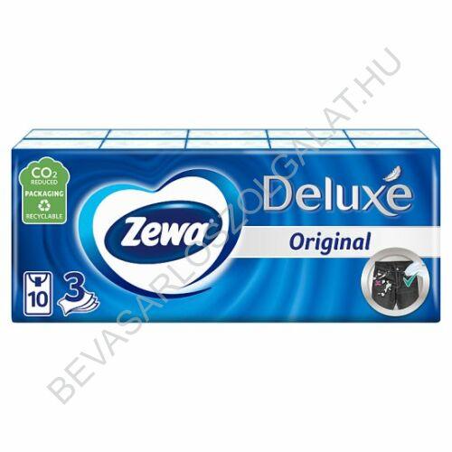 Zewa Deluxe Papírzsebkendő Normál (Illatmentes) 3 rétegű, 10x10 db=100 db (#24)