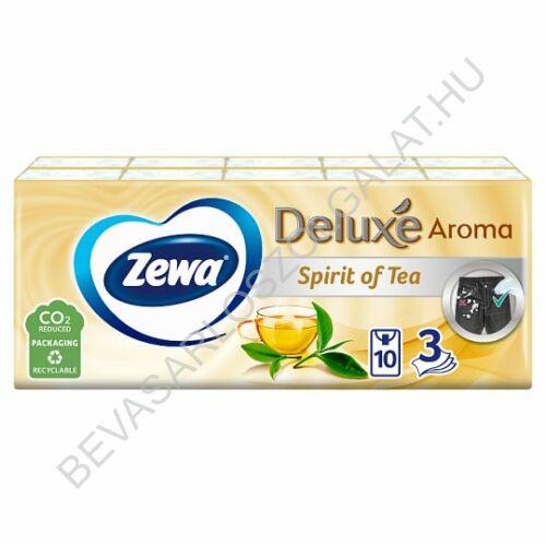 Zewa Deluxe Papírzsebkendő Spirit of Tea 3 rétegű, 10x10 db=100 db (#24)