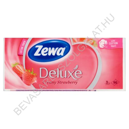 Zewa Deluxe Papírzsebkendő Creamy Strawberry 3 rétegű, 90 db (#40)
