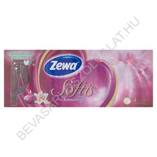 Zewa Softis Papírzsebkendő Aromathera 4 rétegű, 10x9 db (#24)