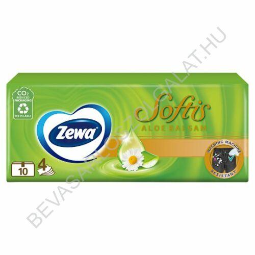 Zewa Softis Papírzsebkendő Aloe Balsam 4 rétegű, 10x9 db (#24)
