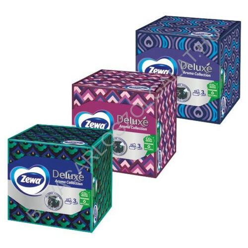 Zewa Deluxe Papírzsebkendő Aroma Collection kocka dobozos 3 rétegű, 60 db (#18)