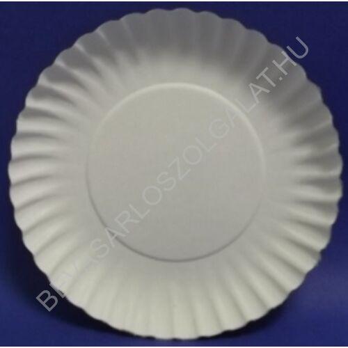Propack Egyszer Használatos Papírtányér Kerek Fehér d=18 cm, 20 db