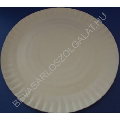 Propack Egyszer Használatos Papírtányér Kerek Fehér d=23 cm, 20 db