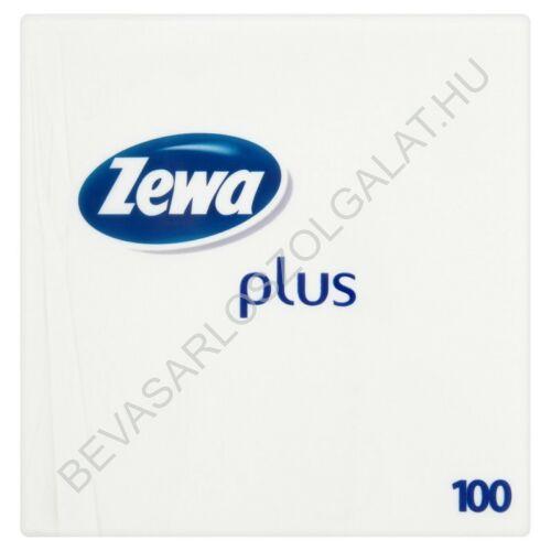 Zewa Plus Szalvéta Fehér 1 rétegű 100 db (#50)