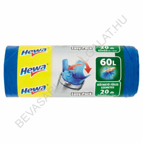 Hewa Easy Pack Köthető Füles Szemeteszsák 60 l, 20 db
