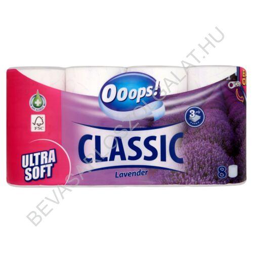 Ooops! Classic Toalettpapír Lavender Fehér, 3 rétegű, 8 tekercs (#5)