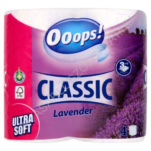Ooops! Classic Toalettpapír Lavender Fehér, 3 rétegű, 4 tekercs (#10)