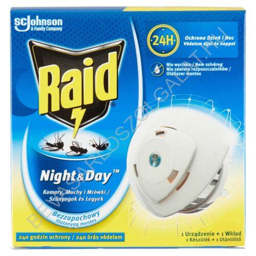 Raid Night&Day Elektromos Szúnyog- és Légyírtó Készülék + Utántöltő Korong 10 Napra