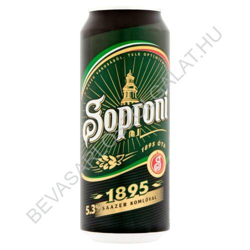 Soproni 1895 Világos Sör 5,3% dobozos 0,5 l (24#)