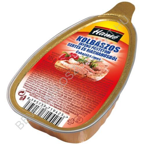 Hamé Kolbászos Ínyenc Pástétom Sertés- és Marhahúsból konzerv 105 g (#16)