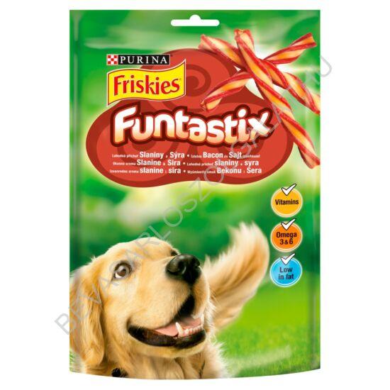 Friskies Funtastix Jutalomfalat Kutyáknak Ízletes Bacon & Sajt Ízesítés 175 g (#6)
