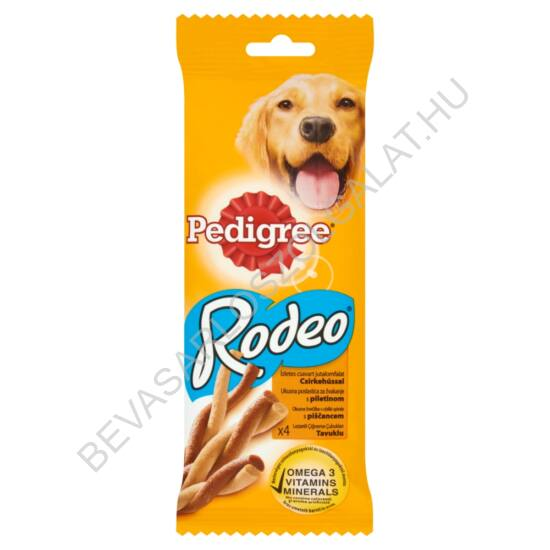 Pedigree Rodeo Jutalomfalat Kutyáknak Csirkehússal 4 db-os 70 g (#20)
