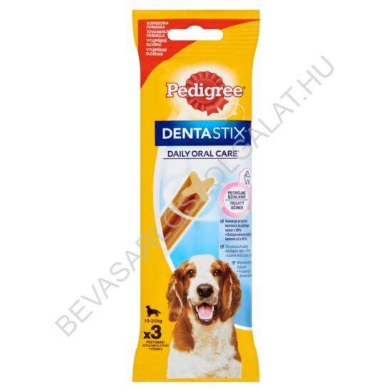 Pedigree Denta Stix Medium Fogtisztító Rúd Kutyáknak 10-25 kg 3 db 77 g