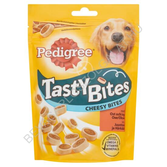 Pedigree Tasty Bites Jutalomfalat Kutyáknak Cheesy Bites 140 g