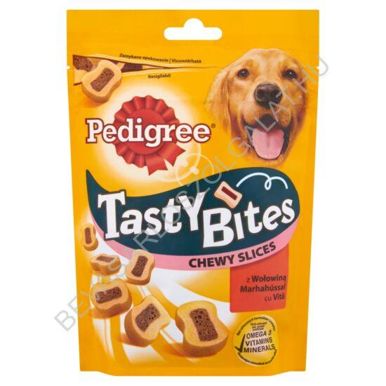 Pedigree Tasty Bites Jutalomfalat Kutyáknak Marhahússal 155 g